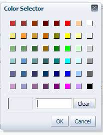 OBIEE 11g Default Colour Selector